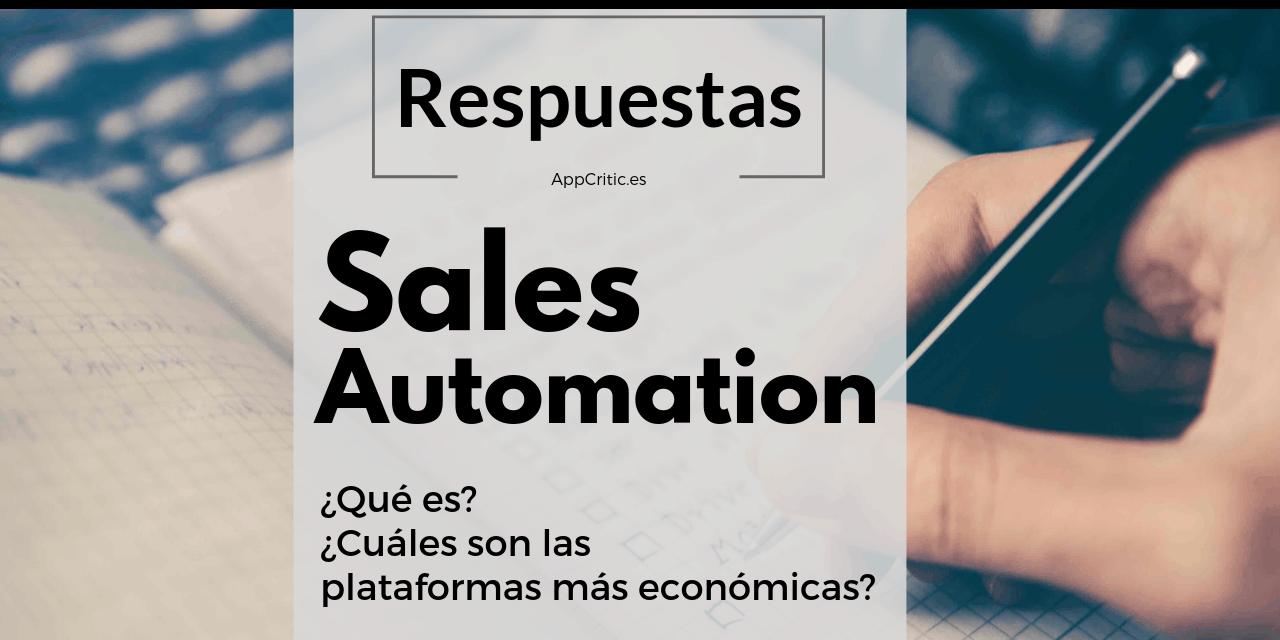 Qué es Sales Automation y cuáles son las herramientas más económicas [Respuestas]